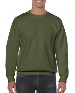 18000-Adult-Crewneck-Sweatshirt-Military-Green