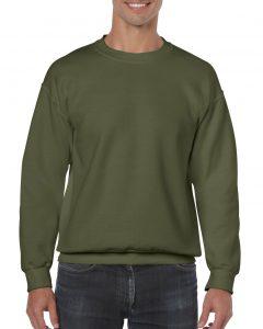 18000-Adult-Crewneck-Sweatshirt-Military-Green