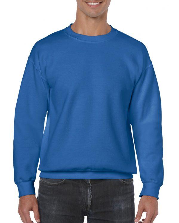 Navy Striped Adult Crew Sweatshirt
