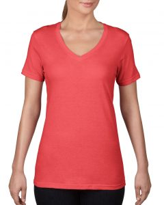 392-Womens-Featherweight-V-Neck-Tee-Coral