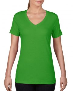392-Womens-Featherweight-V-Neck-Tee-Green-Apple