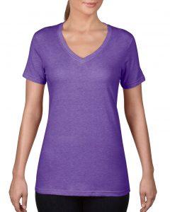 392-Womens-Featherweight-V-Neck-Tee-Heather-Purple