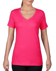 392-Womens-Featherweight-V-Neck-Tee-Hot-Pink
