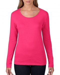 399-Womens-Featherweight-Long-Sleeve-Scoop-Tee-Hot-Pink