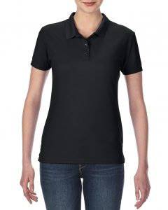 45800L-Ladies-Double-Piqu-Sport-Shirt-Black
