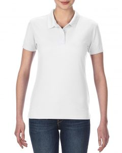 45800L-Ladies-Double-Piqu-Sport-Shirt-White
