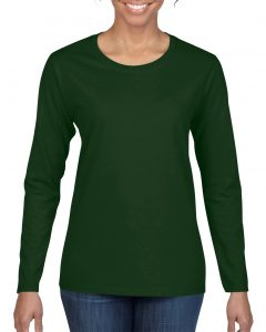 5400L-Ladies-Long-Sleeve-T-Shirt-Forest-Green
