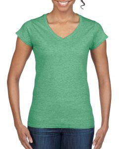 64V00L-Ladies-V-Neck-T-Shirt-Heather-Irish-Green