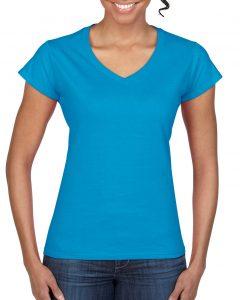 64V00L-Ladies-V-Neck-T-Shirt-Sapphire