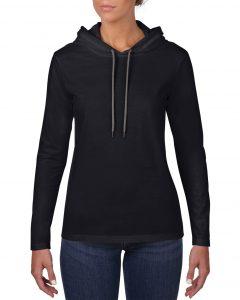 887L-Womens-Lightweight-Long-Sleeve-Hooded-Tee-Black
