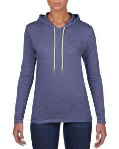 887L-Womens-Lightweight-Long-Sleeve-Hooded-Tee-Heather-Blue