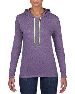 887L-Womens-Lightweight-Long-Sleeve-Hooded-Tee-Heather-Purple