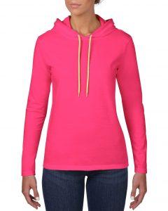 887L-Womens-Lightweight-Long-Sleeve-Hooded-Tee-Hot-Pink